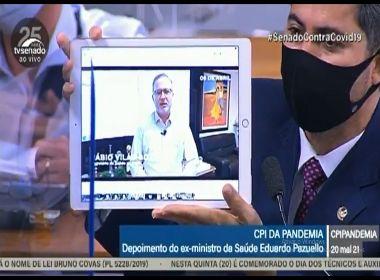 Senador exibe vídeo de Fábio Vilas-Boas falando de cloroquina; DEM repudia atitude