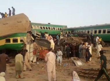 Colisão entre dois trens provoca mais de 30 mortes no Paquistão