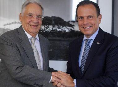 Após mal-estar provocado por encontro com Lula, FHC declara voto em Doria em 2022