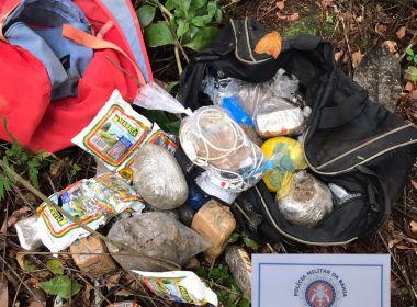Polícia apreende droga que seria arremessada para presídio na Mata Escura