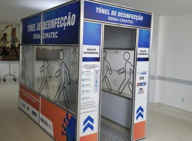 Mais seis túneis de desinfecção do Senai Cimatec são instalados em hospitais da Bahia